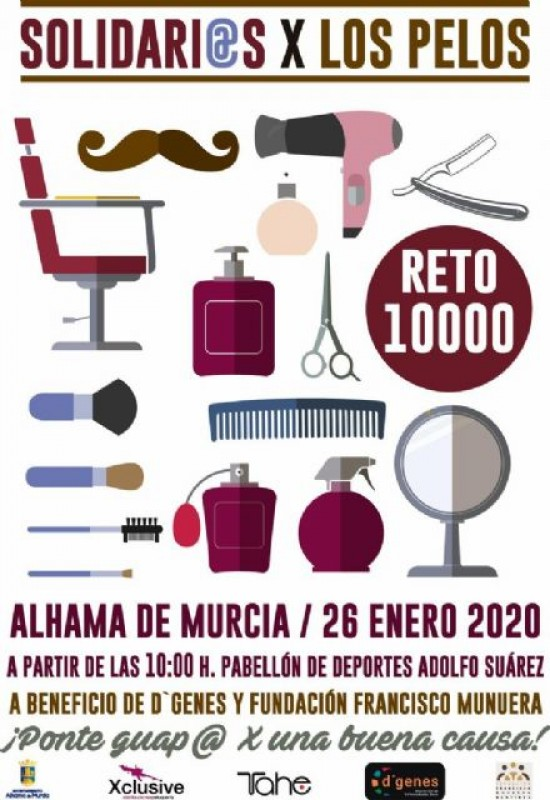 <span style='color:#780948'>ARCHIVED</span> - 26th January Solidarity haircuts in Alhama de Murcia to raise money for rare diseases sufferers
