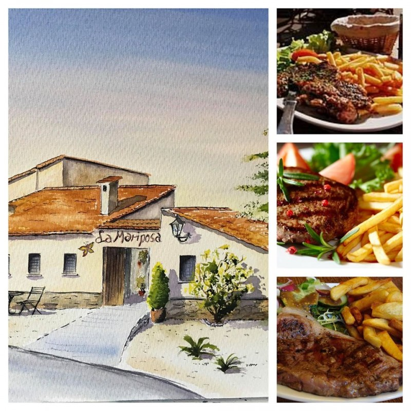 Free steak meal deal at the Hotel la Mariposa in the Sierra Espuña Spring 2020