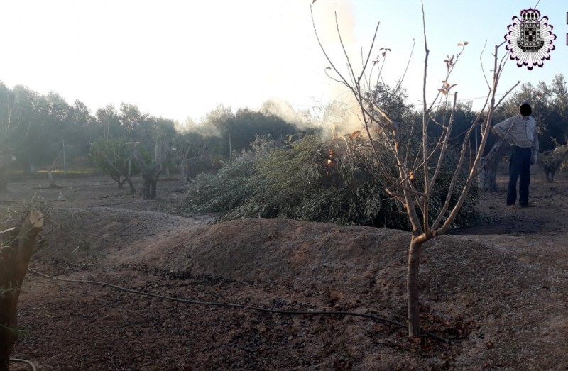 Air quality alert in Murcia as 12 face fines for lighting bonfires and burning cuttings