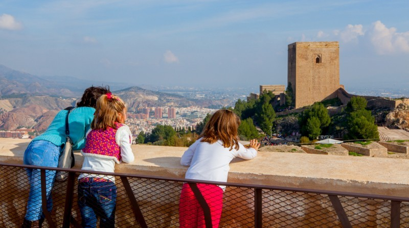 Visiting Lorca castle this winter