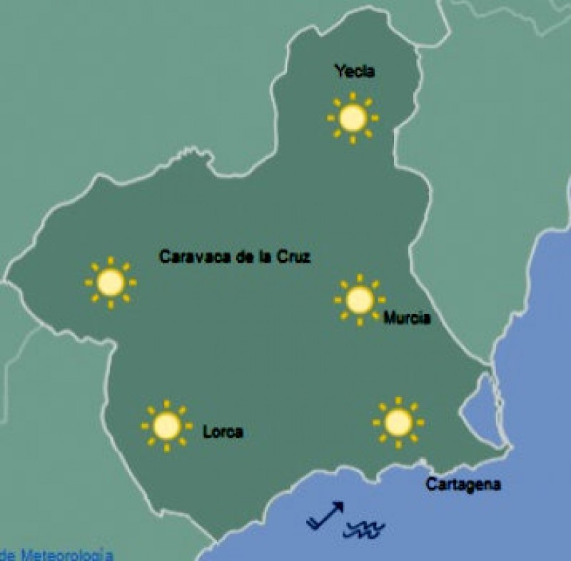 <span style='color:#780948'>ARCHIVED</span> - Warm sunshine in Murcia on Wednesday and Thursday but wintry weather approaching