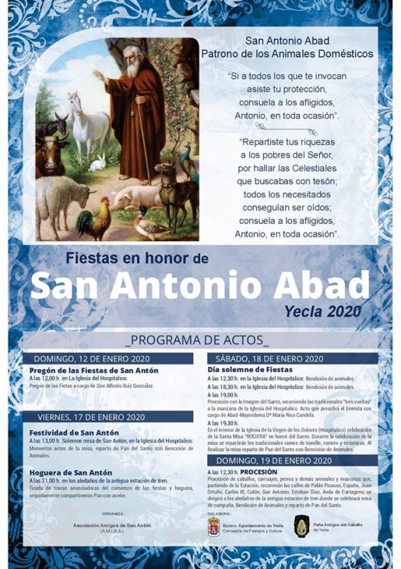 <span style='color:#780948'>ARCHIVED</span> - 17th to 19th January fiestas of san Antón in Yecla