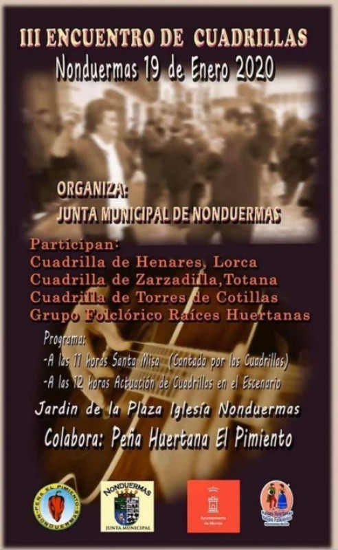 <span style='color:#780948'>ARCHIVED</span> - Sunday 19th January Encuentro de Cuadrillas in Nonduermas Murcia