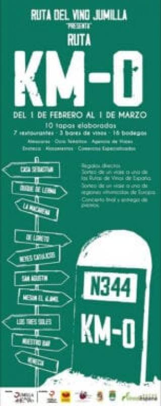 1st February to 1st March, KM-0 tapas and wine route in Jumilla