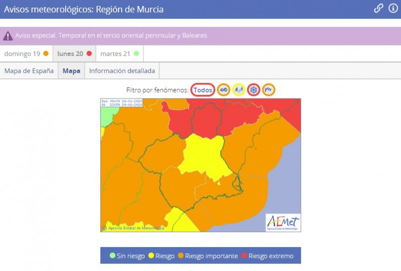 <span style='color:#780948'>ARCHIVED</span> - Heavy rain warning for Mazarrón and the Campo de Cartagena