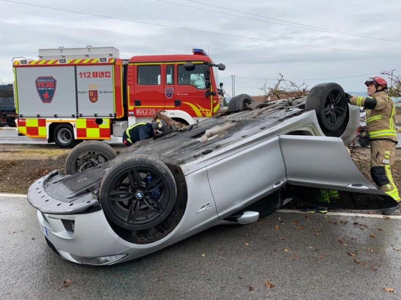 <span style='color:#780948'>ARCHIVED</span> - Lucky escape for driver on Lorca-Águilas road