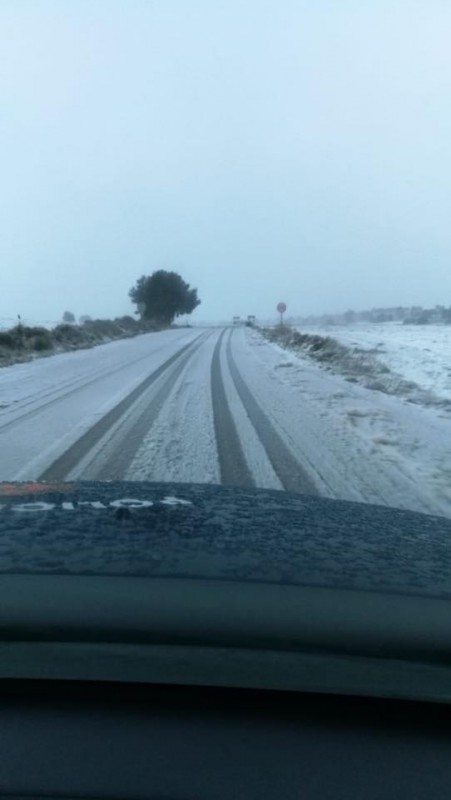 <span style='color:#780948'>ARCHIVED</span> - Images of the snow in Lorca on 20th January