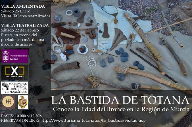 22nd February Totana theatrical tour of the La Bastida Argaric site