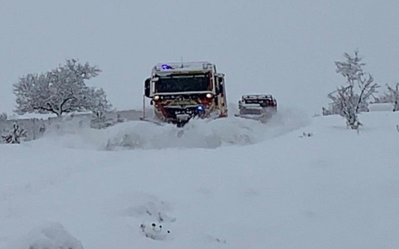 <span style='color:#780948'>ARCHIVED</span> - Storm Gloria leaves 2 metres of snow at the top of Sierra Espuña