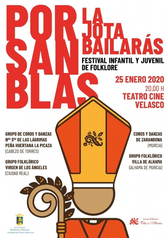 <span style='color:#780948'>ARCHIVED</span> - Saturday 25th January Alhama de Murcia: Free entry children's folkdancing festival