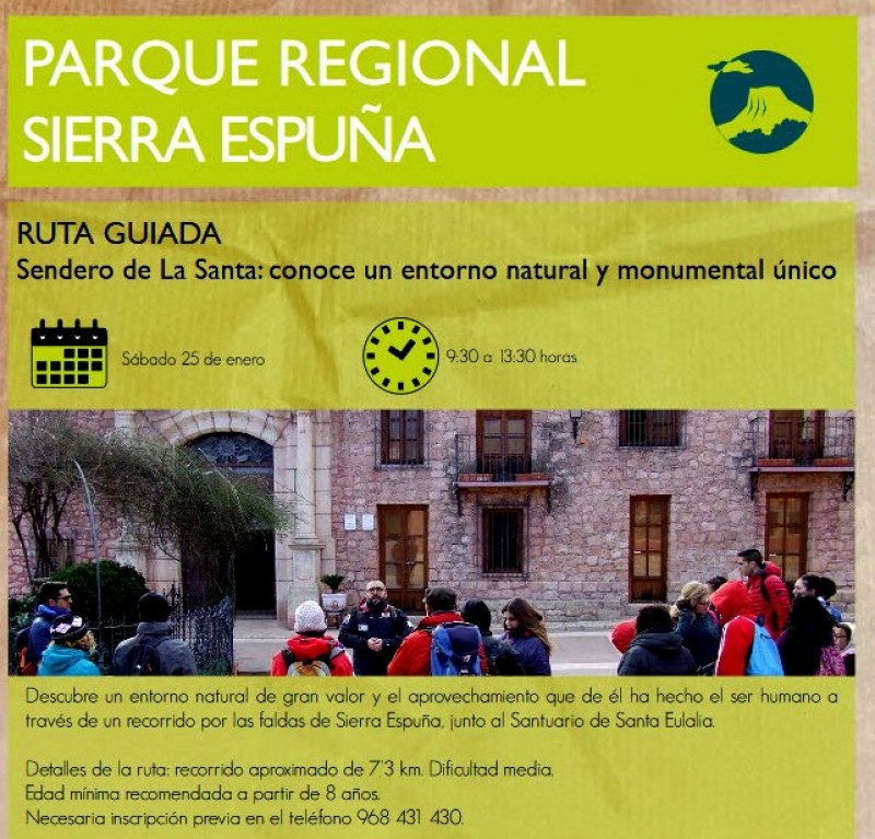 <span style='color:#780948'>ARCHIVED</span> - Saturday 25th January Free 7km family walk in the Sierra Espuña