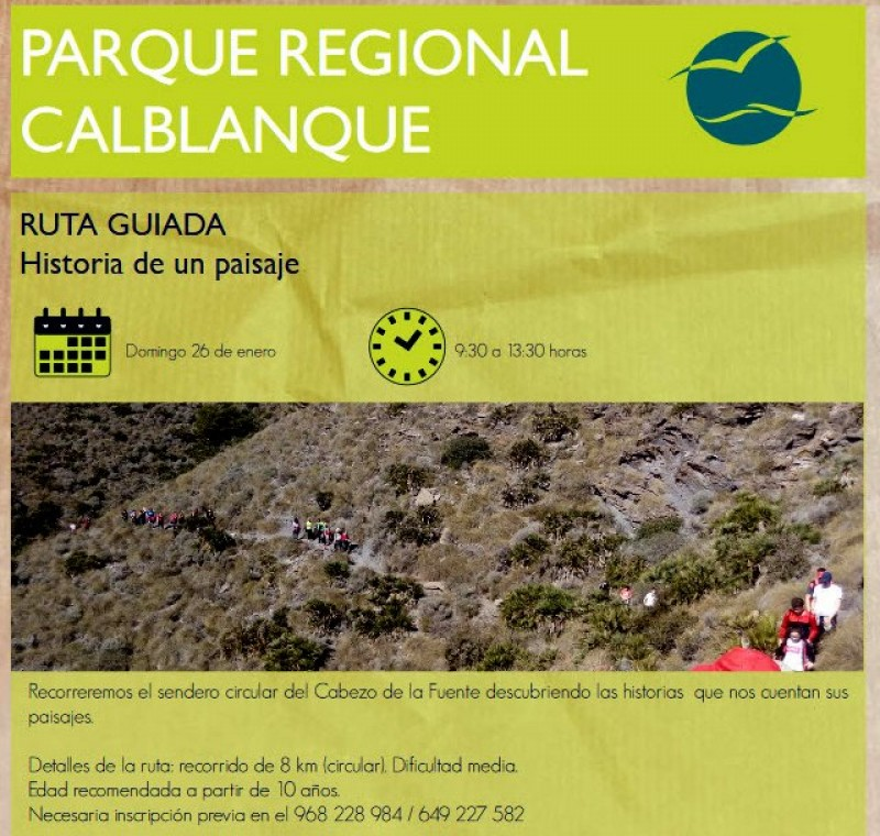 <span style='color:#780948'>ARCHIVED</span> - Sunday 26th January Free 8km guided walk in the Calblanque regional park