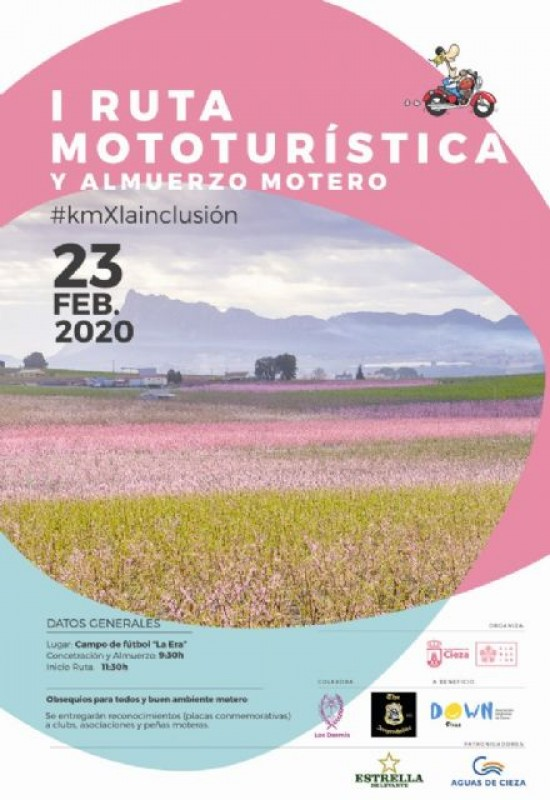 <span style='color:#780948'>ARCHIVED</span> - 23rd February, motorcycle tour of the Floración in Cieza