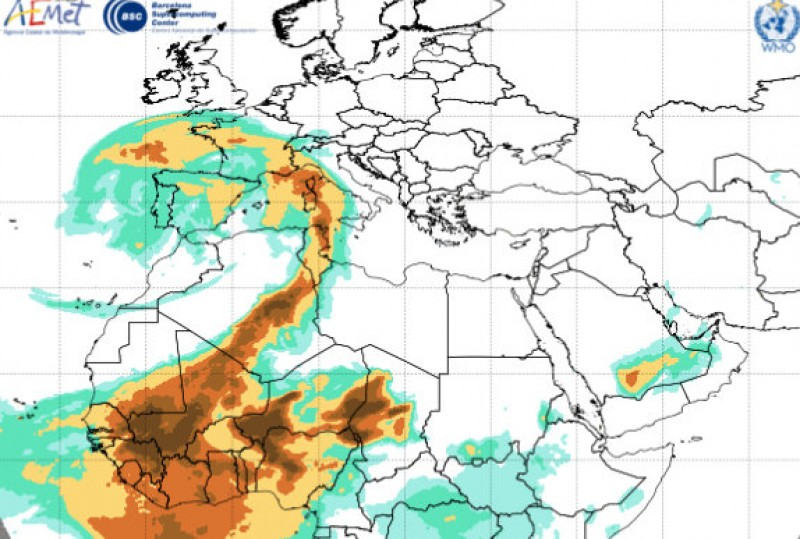 Level 2 contamination protocol activated in Murcia as African mineral dust cloud arrives