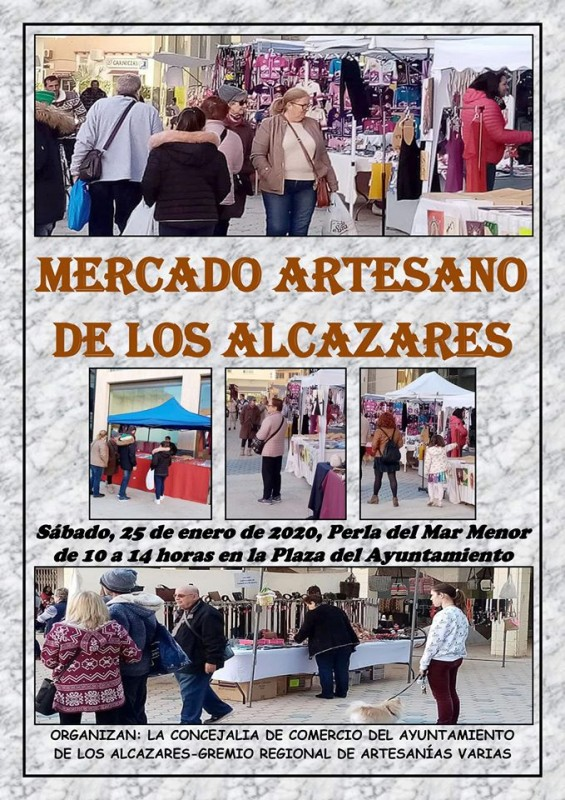 <span style='color:#780948'>ARCHIVED</span> - Saturday 25th January 2020 Artisan Market in Los Alcázares