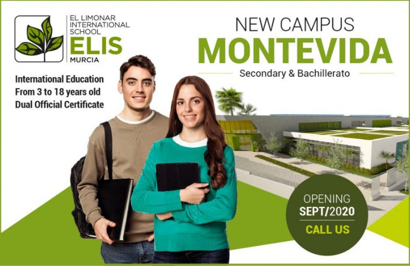 New, state-of-the-art campus at the International British-curriculum school ELIS Murcia in Montevida to open in September 2020