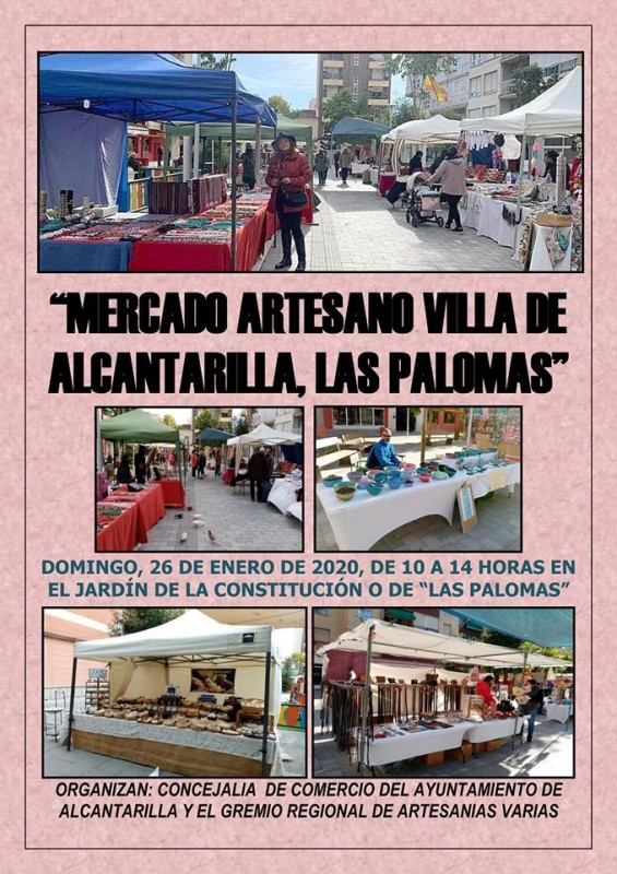 <span style='color:#780948'>ARCHIVED</span> - Sunday 26th January 2020 Artisan market in Alcantarilla