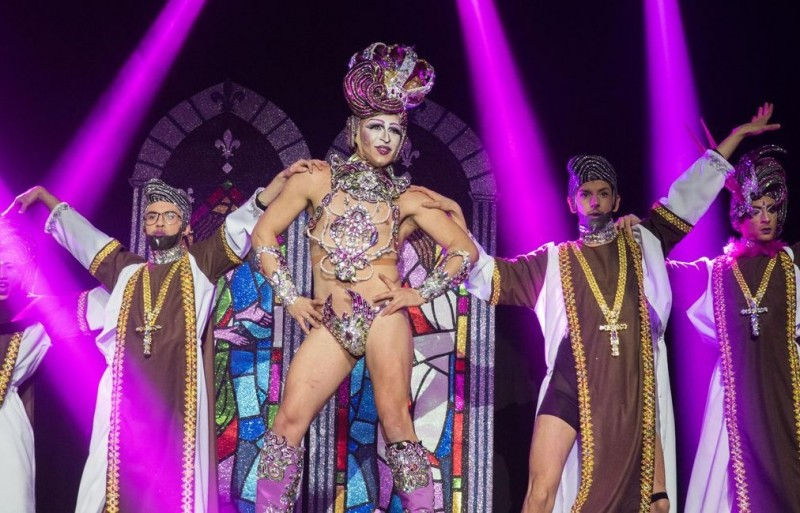 Monday 17th February Drag Queen carnival competition in Cartagena