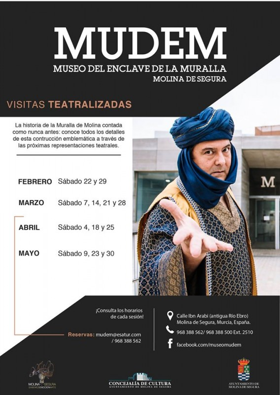 22nd and 29th February free theatrical evening tour of the MUDEM in Molina de Segura