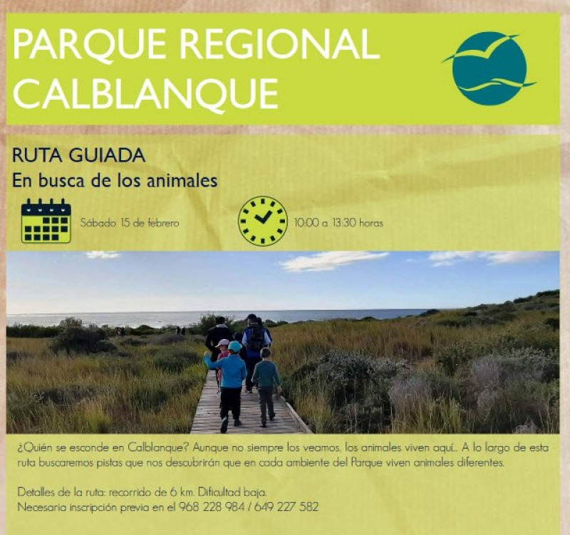 <span style='color:#780948'>ARCHIVED</span> - Saturday 15th February Free guided walk in the Calblanque regional park