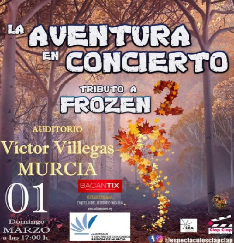 1st March, Frozen tribute show at the Auditorio Víctor Villegas in Murcia