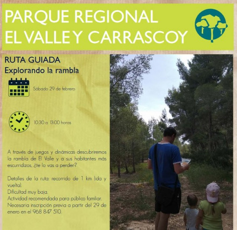 Saturday 29th February Exploring the rambla; free activity in the Carrascoy regional park for children