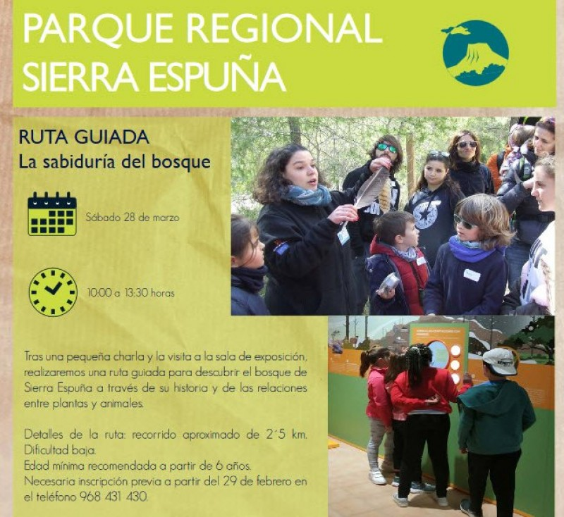 Saturday 28th March Free educative family walking route in the Sierra Espuña regional park