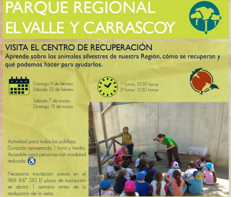 7th and 15th March; Free family visits to the El Valle wildlife recovery centre in Murcia