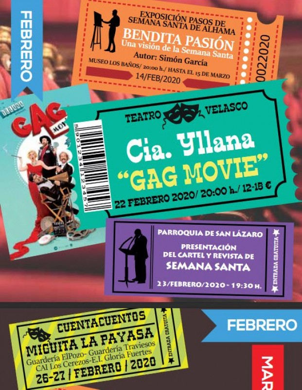 Cultural activities during February in Alhama de Murcia
