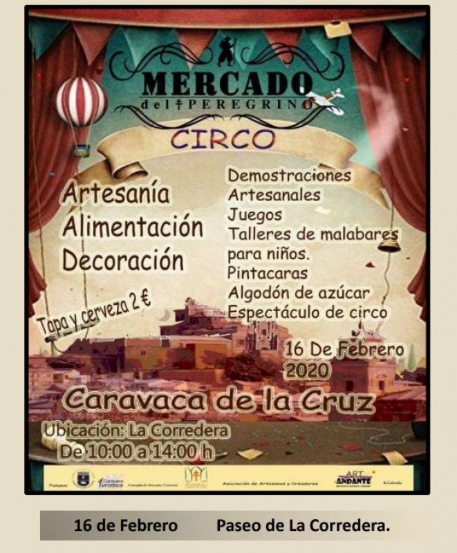 <span style='color:#780948'>ARCHIVED</span> - Sunday 16th February 2020 Caravaca de la Cruz artisan market