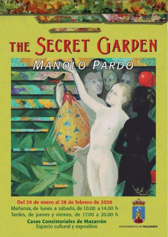 <span style='color:#780948'>ARCHIVED</span> - 24th January to 28th February, The Secret Garden exhibition by artist Manolo Pardo in Mazarrón