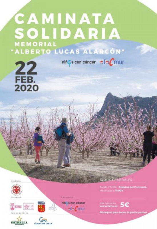 Saturday 22nd February solidarity walk in Cieza for children with cancer