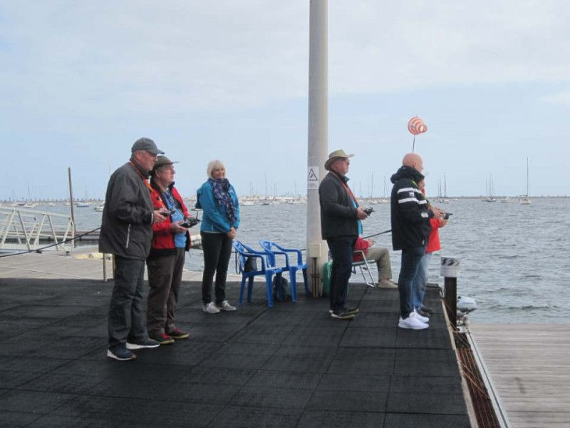 <span style='color:#780948'>ARCHIVED</span> - A grey day fails to dampen spirits at the Mar Menor Remote Sailing Club