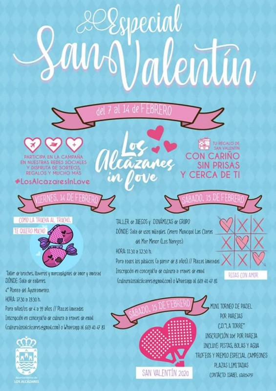 <span style='color:#780948'>ARCHIVED</span> - Free workshops as part of Los Alcázares Valentines shopping promo
