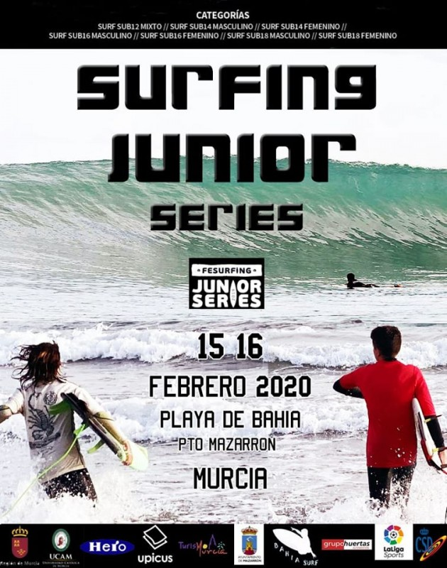 <span style='color:#780948'>ARCHIVED</span> - 15th and 16th February Mazarrón Junior surfing competition POSTPONED