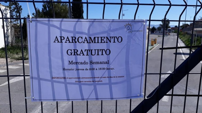 <span style='color:#780948'>ARCHIVED</span> - New free parking for Lorca weekly market