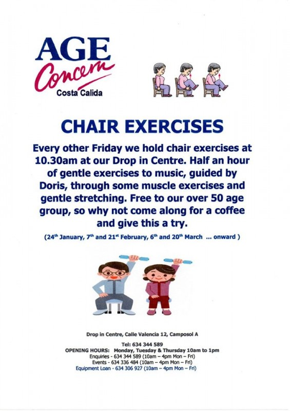 20th March Chair exercising with Age Concern on Camposol