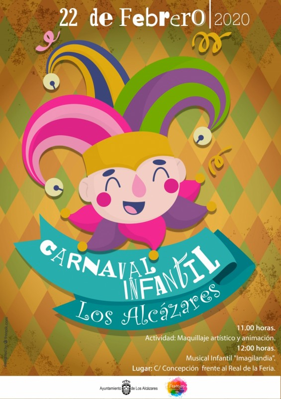 22nd February carnival activities for children in Los Alcázares