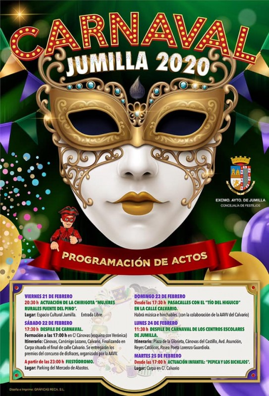 <span style='color:#780948'>ARCHIVED</span> - 21st to 25th February Carnival in Jumilla 2020