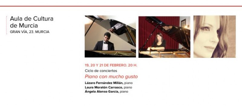 <span style='color:#780948'>ARCHIVED</span> - 19th, 20th and 21st February: Free piano concerts in the Cajamurcia Aula de Cultura, Murcia City