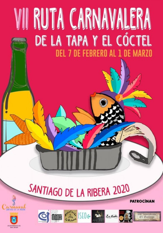 <span style='color:#780948'>ARCHIVED</span> - Pre-carnival tapas route 2020 in Santiago de la Ribera until 1st March