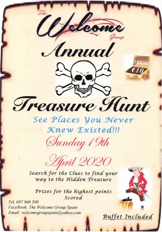 <span style='color:#780948'>ARCHIVED</span> - Sunday 19th April Welcome Group annual treasure hunt Mazarrón Camposol