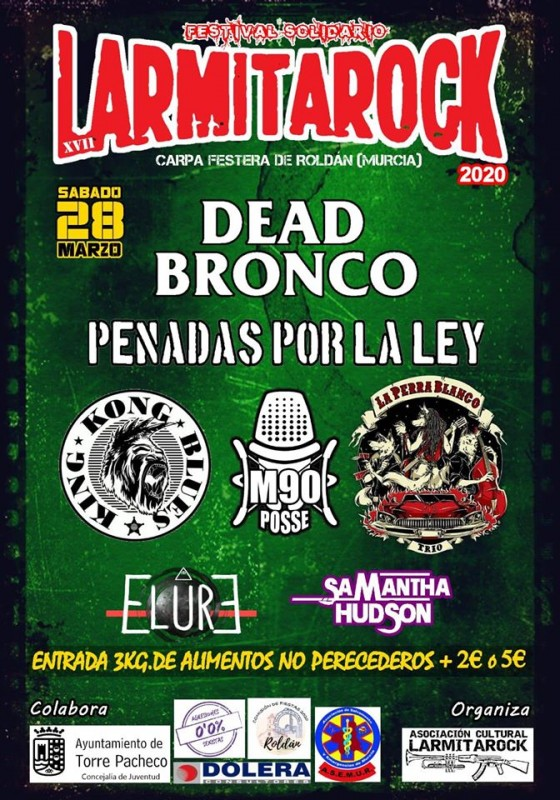 Saturday 28th March Larmitarock in Roldán: solidarity music