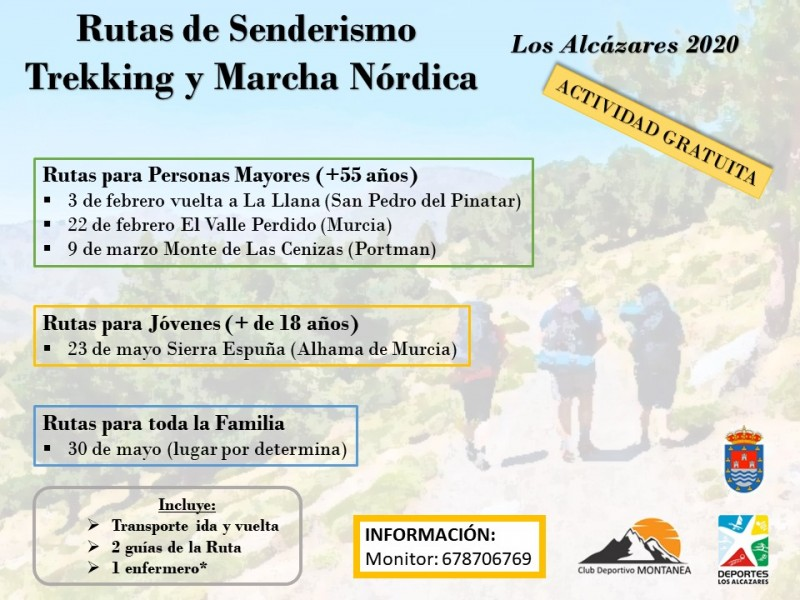 <span style='color:#780948'>ARCHIVED</span> - Monday 2nd March Free senderismo walk organised by Los Alcázares council
