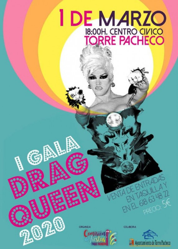 1st March Carnival drag queen gala in Torre Pacheco