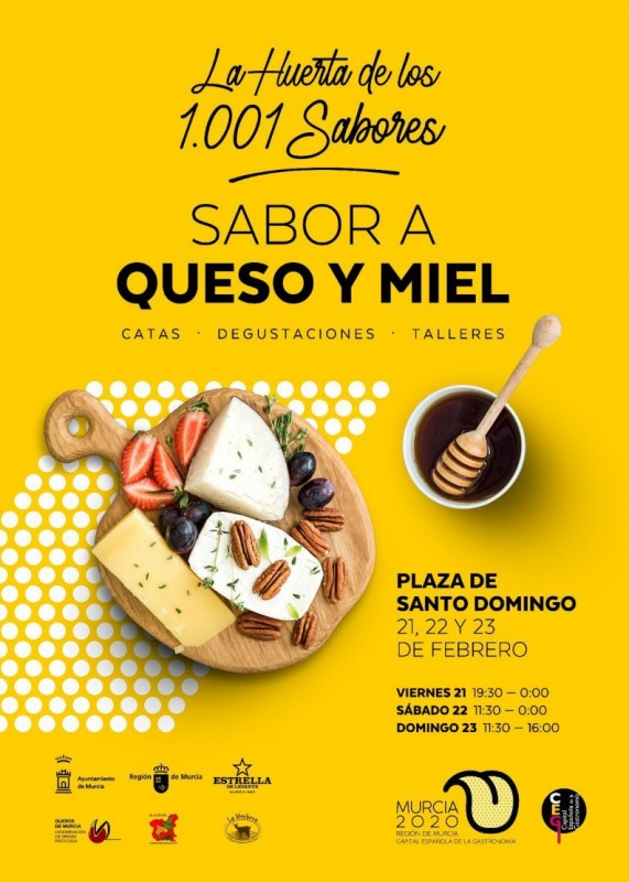 21st to 23rd February, cheese and honey market and tastings in the city of Murcia
