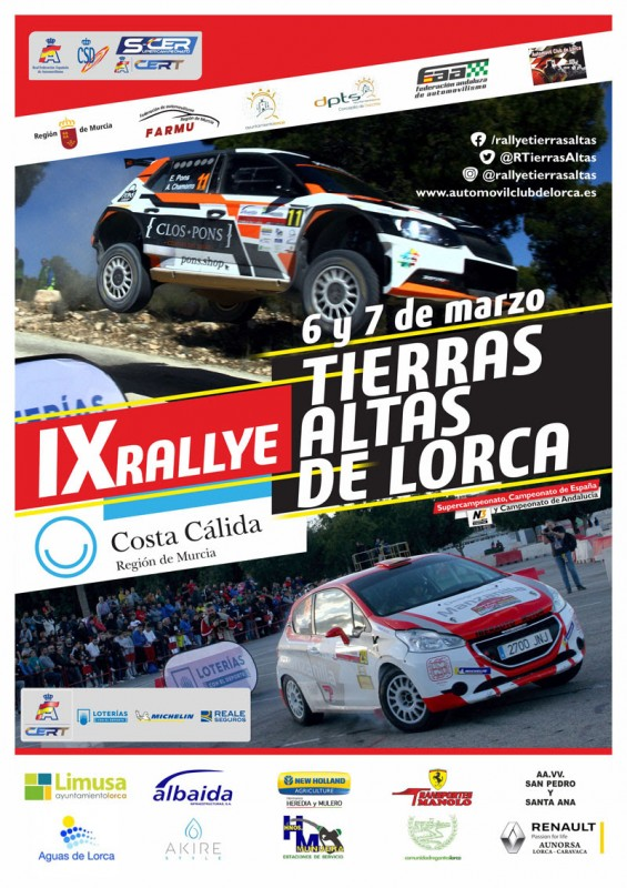 <span style='color:#780948'>ARCHIVED</span> - 6th and 7th March Lorca Tierras Altas de Lorca rally