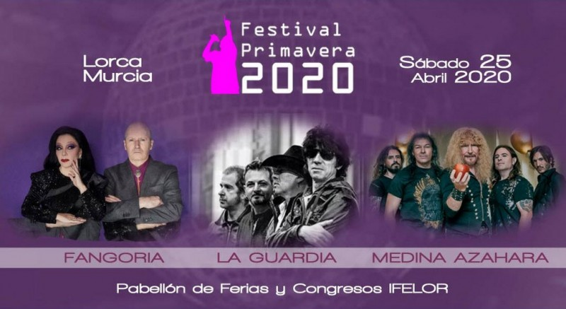 <span style='color:#780948'>ARCHIVED</span> - Saturday 25th April 2020 Lorca Festival Primavera 2020