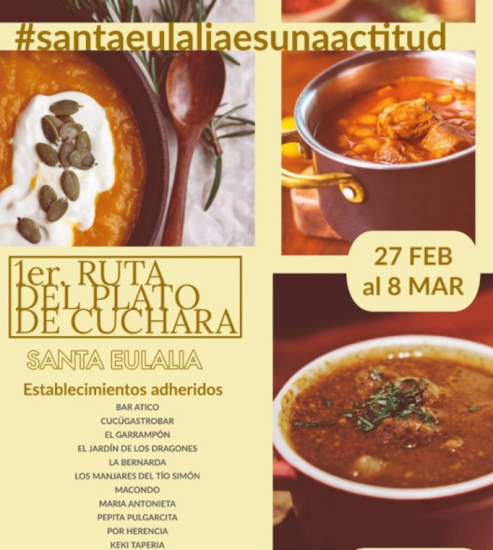 <span style='color:#780948'>ARCHIVED</span> - 27th February to 8th March, Plato de Cuchara traditional stews route in Murcia