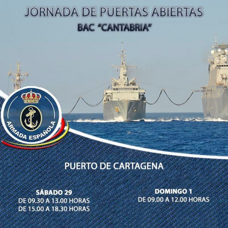 <span style='color:#780948'>ARCHIVED</span> - 29th February and 1st March Spanish Naval vessel open for visits in Cartagena